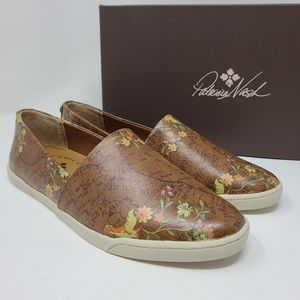Patricia Nash Lola Leather Floral Map Shoes 6.5